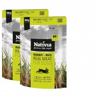 2x Nativia Real Meat Rabbit & Rice 8kg