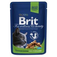 Brit Premium Cat kapsa Chicken Slices for Sterilised 100g