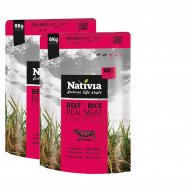 2x Nativia Real Meat Beef & Rice 8kg