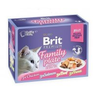 Brit Premium Cat D Fillets in Jelly Family Plate 1020g (12x85g)