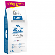 Brit Care Dog Adult Large Breed Lamb & Rice 12kg + 2kg ZDARMA